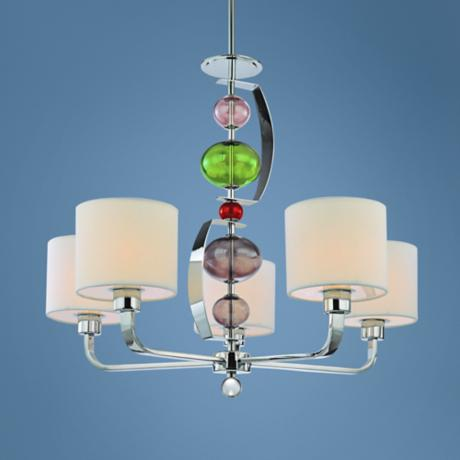 "Fizz Collection Polished Chrome 28 1/2"" Wide Chandelier"