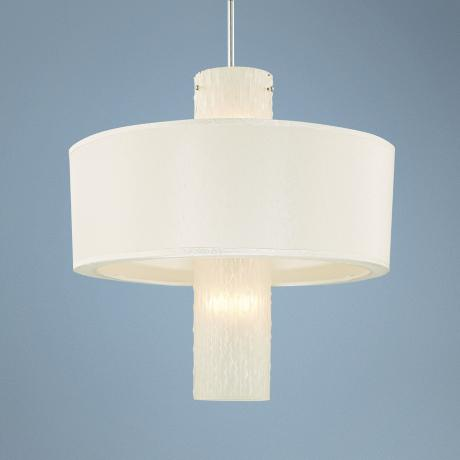 "Mojito Collection Frosted Ice 22"" Wide Pendant Chandelier"
