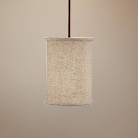 "Midtown Collection 7 1/4"" Wide Burnished Bronze Mini Pendant"