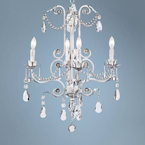 "Valentino White 20"" Wide Chandelier"