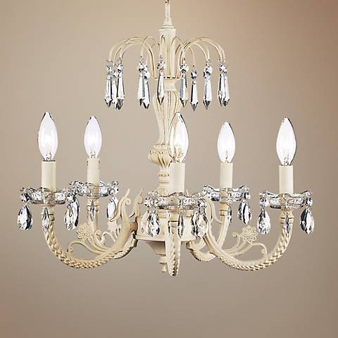 "Waterfall Ivory 18 1/4"" Wide Chandelier"