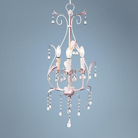 "Pink Pear 10"" Wide Mini Chandelier"
