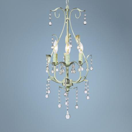 "Green Pear 10"" Wide Mini Chandelier"