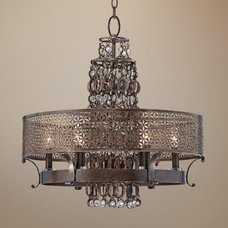 "Metropolitan Ajourer Collection 23 1/2"" Wide Chandelier"