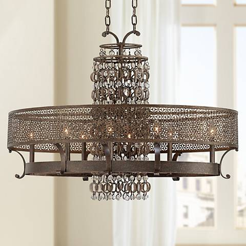 "Metropolitan Ajourer Collection 42"" Wide Oval Chandelier"