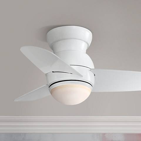 "26"" Minka Aire Spacesaver White Hugger Ceiling Fan"