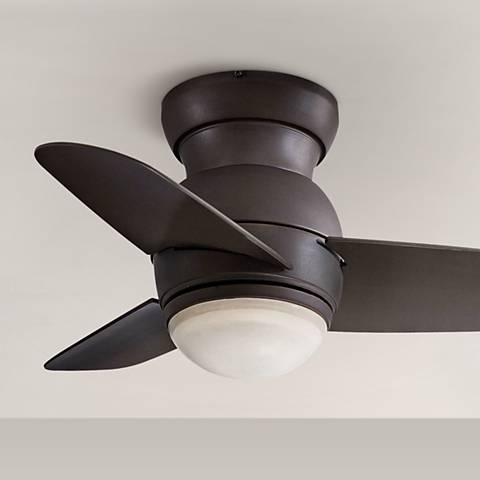 "26"" Minka Spacesaver Oil Rubbed Bronze Hugger Ceiling Fan"