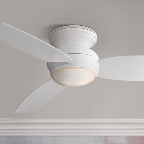 "52"" Minka Aire Concept White Outdoor Ceiling Fan"