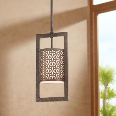 "Metropolitan Ajourer  6 1/2"" Wide Mini Pendant Light"