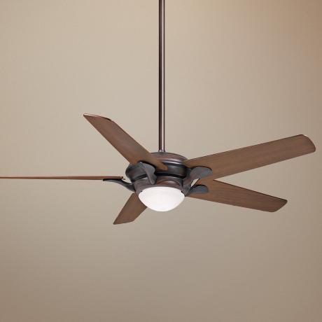 "55"" Casablanca Bel Air Brushed Cocoa Ceiling Fan"