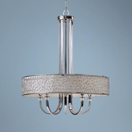Uttermost Brandon Nickel 5-Light Large Modern Chandelier