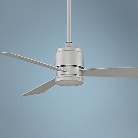 "54"" Fanimation Zonix Satin Nickel Wet Ceiling Fan"