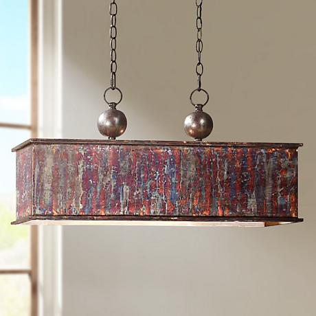 "Uttermost Albiano Rectangle 28"" Wide 2-Light Pendant"