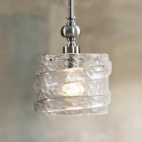 Uttermost Mossa Seeded Glass 1-Light Mini Pendant Light