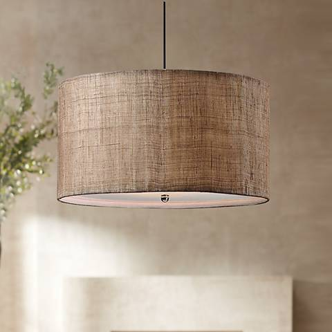 Uttermost Dafina Burlap 3-Light Pendant Light