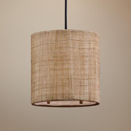 Uttermost Dafina Burlap 1-Light Mini Pendant Light