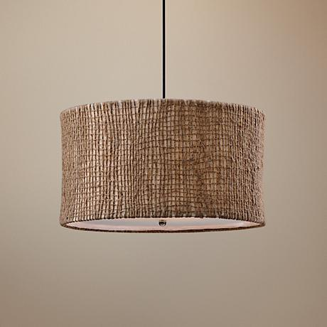 Uttermost Burleson Natural Twine 3-Light Pendant Light