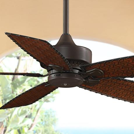 52 Quot Fanimation Cancun Bamboo Blade Wet Rated Ceiling Fan