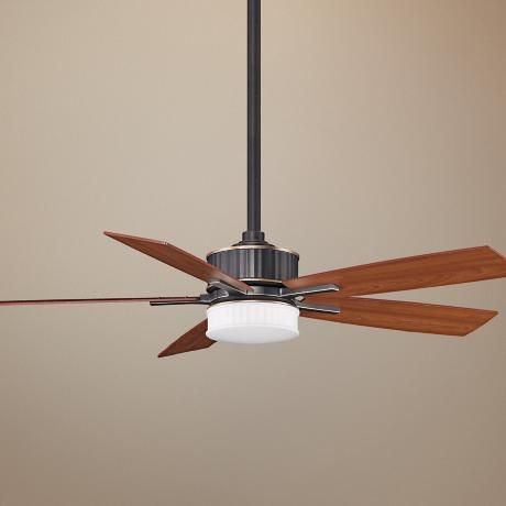 "60"" Fanimation Landan Bronze Ceiling Fan with LED Light Kit"