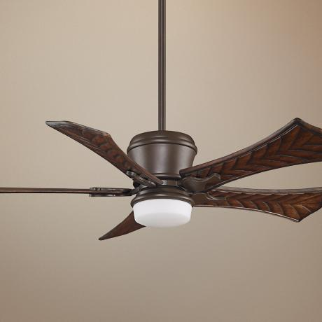 "52"" Fanimation Sandella Concave Walnut Blades Ceiling Fan"