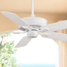 "50"" Fanimation Edgewood™ White Wet Ceiling Fan"