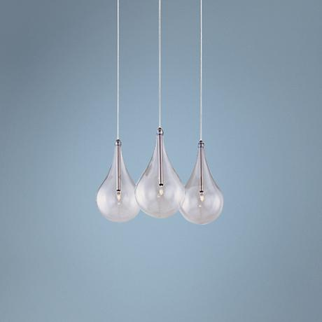 ET2 Minx Larmes RapidJack Clear Glass 3-Light Pendant