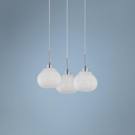 ET2 Minx RapidJack Snow White Glass 3-Light Pendant