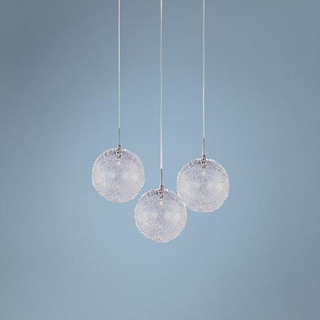 ET2 Minx Mesh RapidJack White Glass 3-Light Pendant