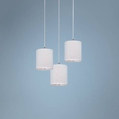 ET2 Elements RapidJack Tall Woven White 3-Light Pendant