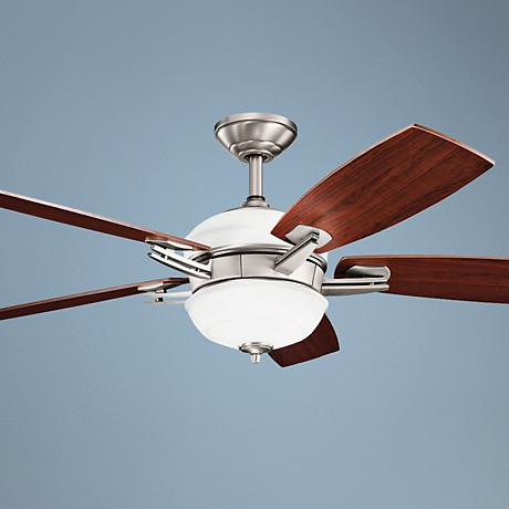 "54"" Kichler Brinbourne Antique Pewter Ceiling Fan"