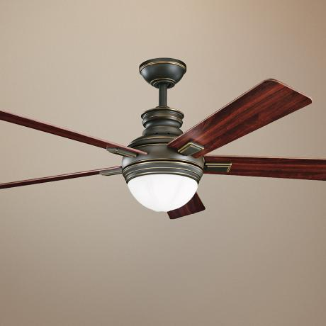 "52"" Kichler Brookfield Oiled Bronze Ceiling Fan"