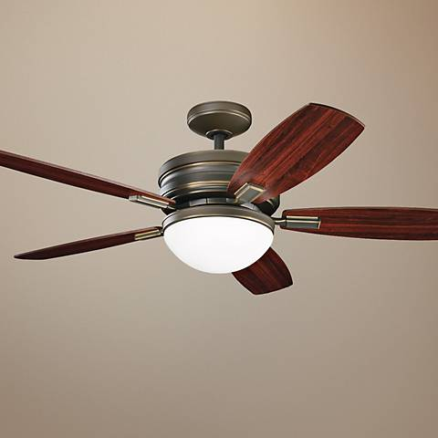 "52"" Kichler Carloson Oiled Bronze Ceiling Fan"