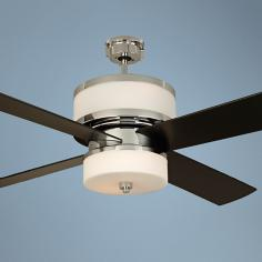"56"" Craftmade Midora Chrome Ceiling Fan"