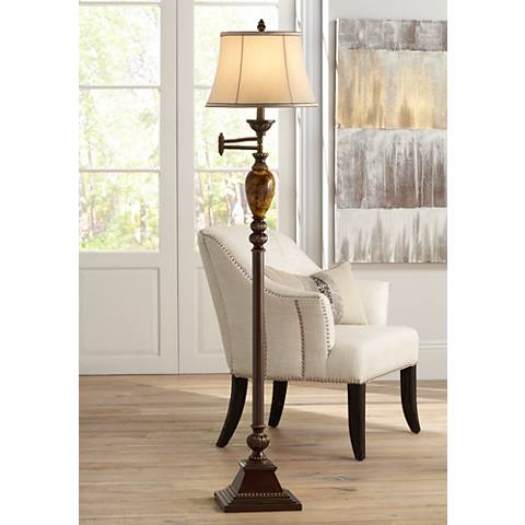 Kathy Ireland Mulholland Swing Arm Floor Lamp