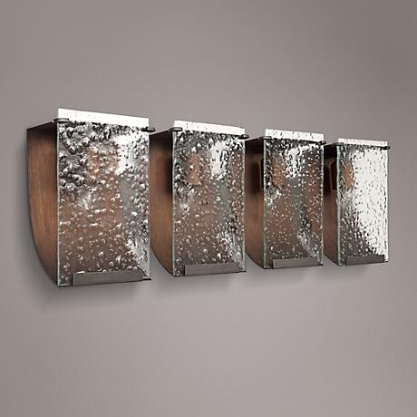 "Varaluz Rain 31 1/2"" Wide Hammered Ore Bath Light"