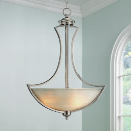 "Milbury Collection 19 1/2"" Wide Bowl Pendant Chandelier"