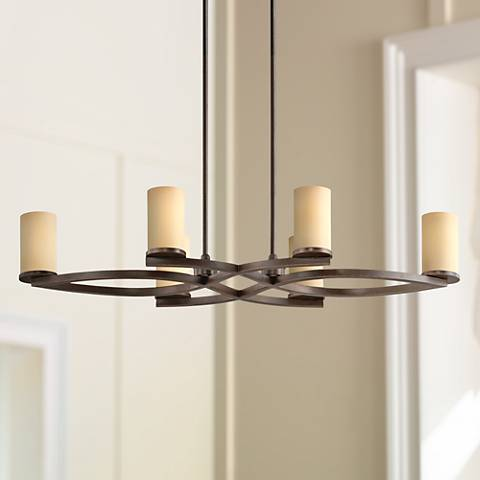 Fairport Mediterranean Bronze 6-Light Island Chandelier