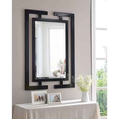 "Mikoto Gloss Black  41"" High Wall Mirror"