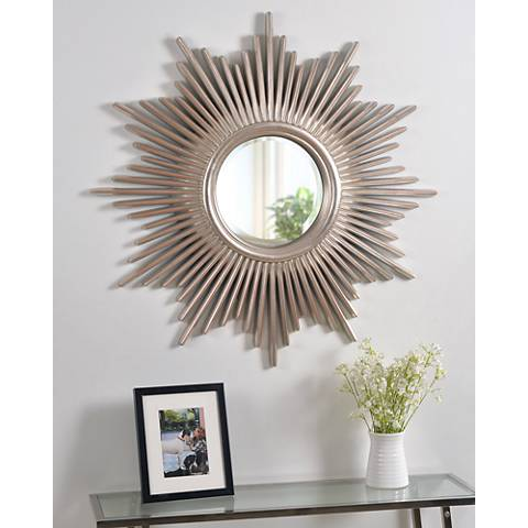 "Sunburst Reflections 36"" High Wall Mirror"