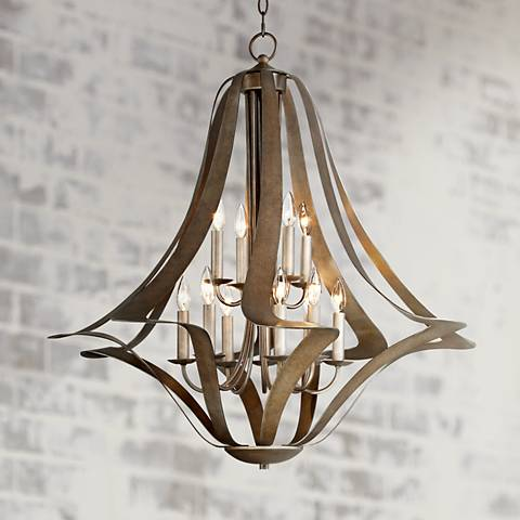 Possini Euro Corinthian Twist 12-Light Large Chandelier