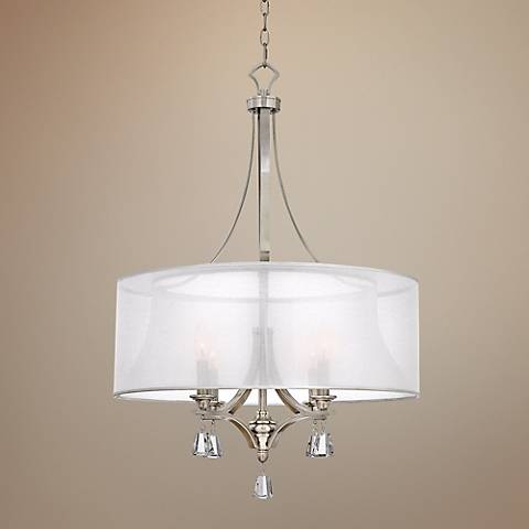 "Fredrick Ramond Mime 24""W Brushed Nickel Pendant Chandelier"