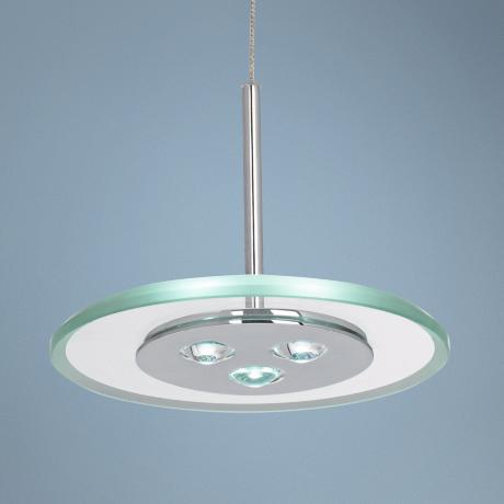 Possini Euro Design Glass Disk 3-LED Mini Pendant Light