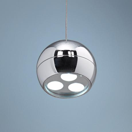 Possini Euro Design Chrome Sphere LED Mini Pendant Light