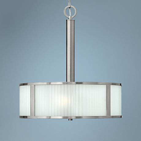 "Hinkley Midtown 18"" Wide Brushed Nickel 3-Light Pendant"