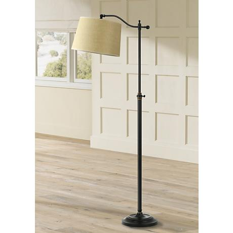 Dark Bronze Finish Adjustable Downbridge Floor Lamp