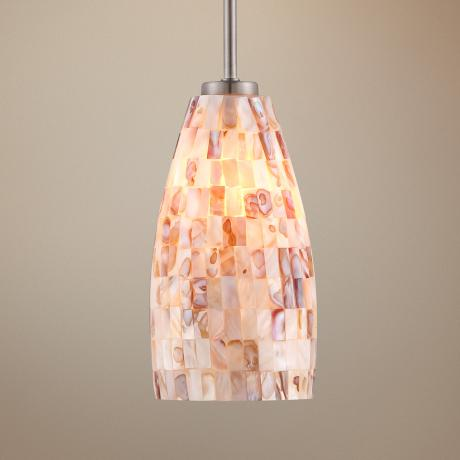 Mother of Pearl Mini Pendant Light