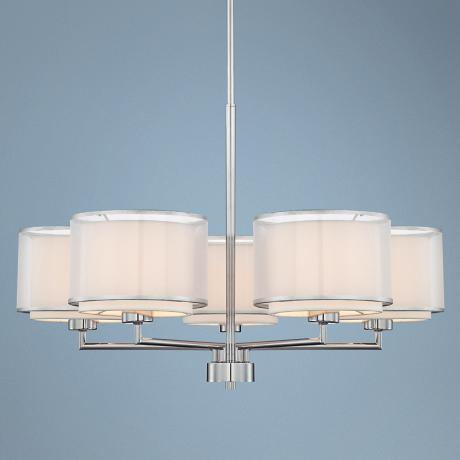 Possini Euro Design 5-Light Overlapping Shade Chandelier