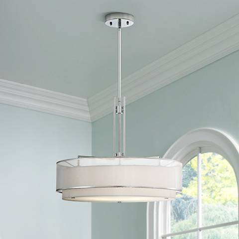"Possini Euro Double Organza 20""W Pendant Chandelier"