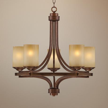 "Chic Chalet Bronze 24"" Wide Chandelier"