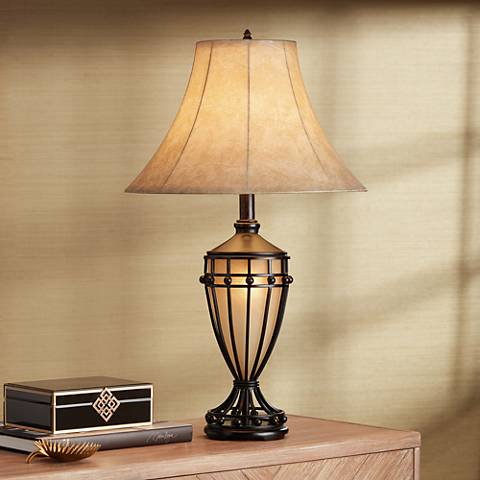cardiff iron night light urn table lamp t7663 lamps plus